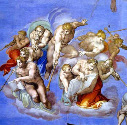 Detail from the ceiling of the Sistine Chapel