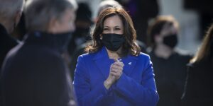 Kamala Harris at her inauguration