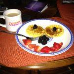 smiley waffles