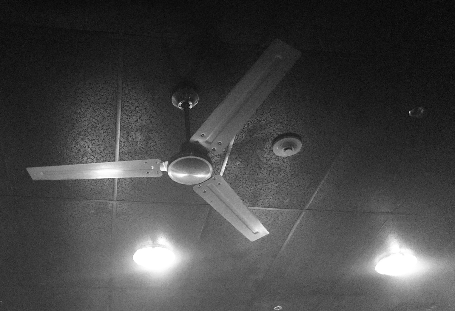 I Disobeyed The Teacher S Guidance To Close My Eyes And Saw Overhead One Of Studio Fans Turning Very Slowly