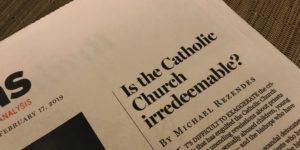 Is the Catholic Church Irredeemable headline