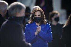 Kamala Harris at her inauguration